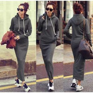 NWT grey hoodie maxi dress ⭐️#1 best seller⭐️